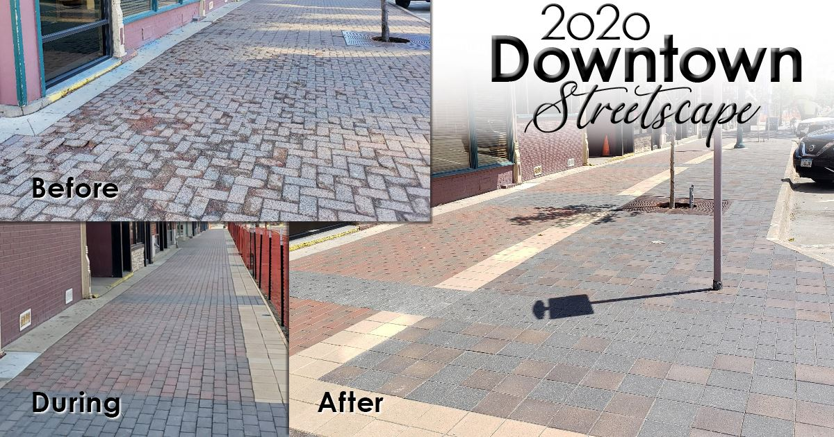 Streetscape before and after