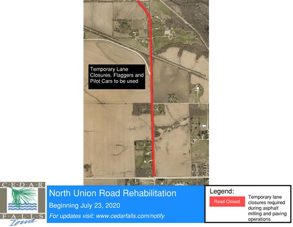 North Union Road Rehabilitation map