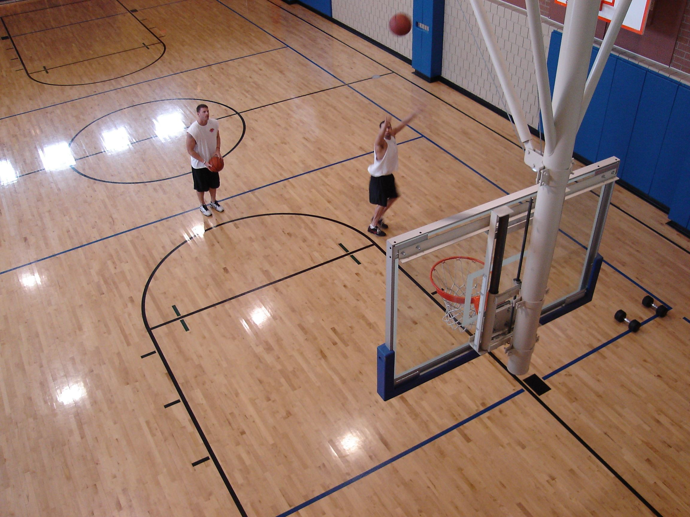 Rec Center Basketball Court