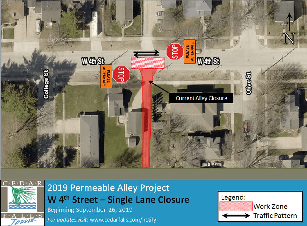 West 4th Street-Single Lane Closure