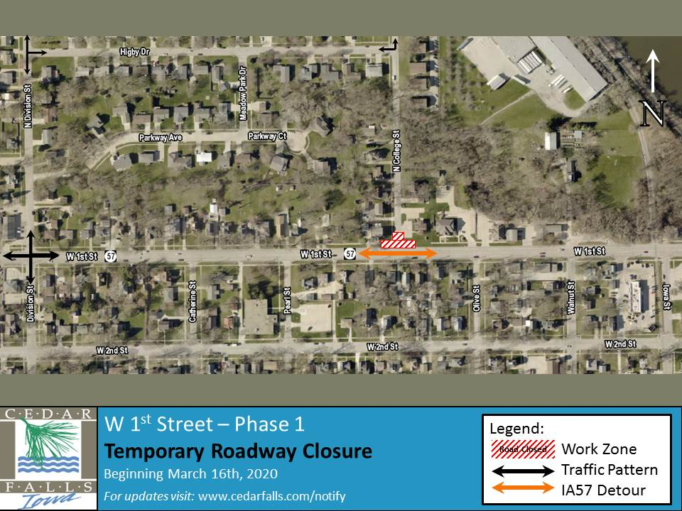 1st Street Closure Map