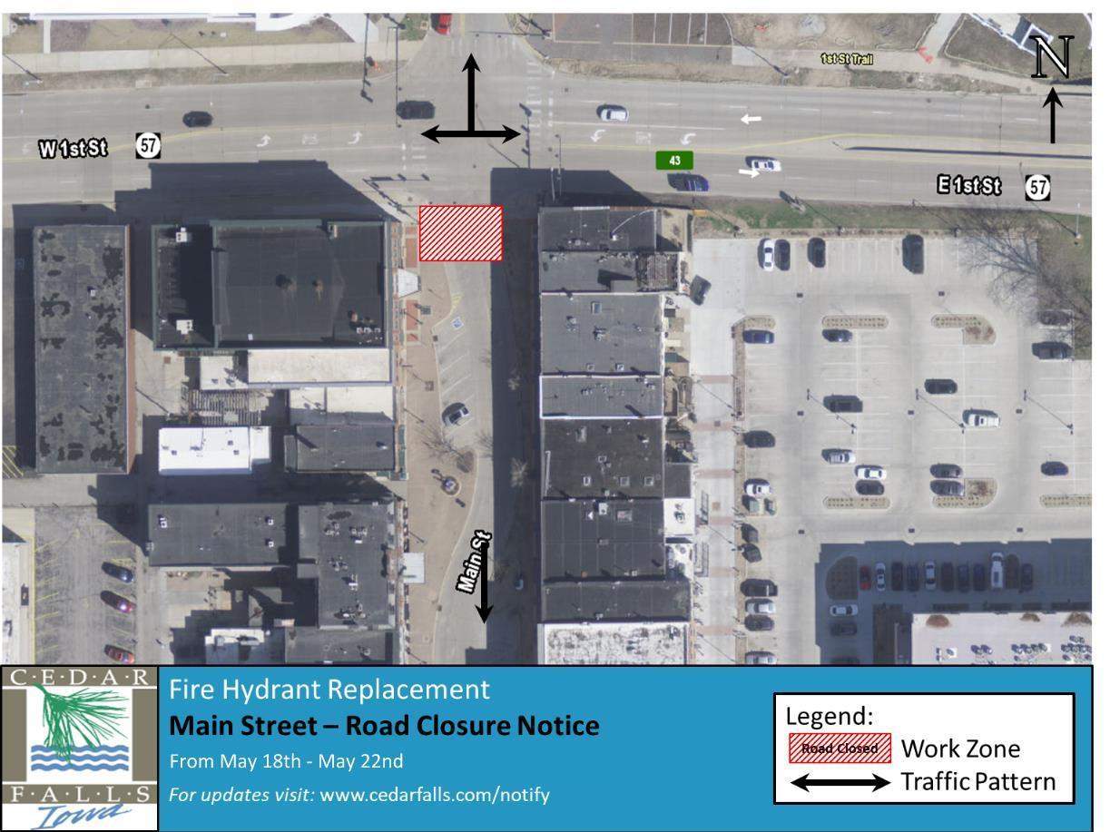 Main Street Closure-Fire Hydrant Replacement